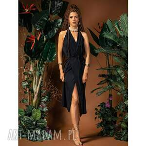 sukienki ramona midi - sukienka z odkrytymi plecami