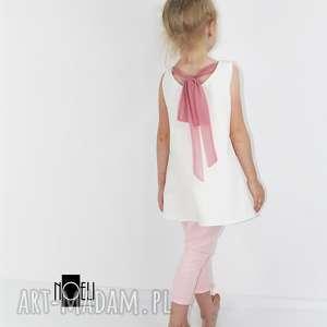 Sukienka ecru z tiulowa kokarda , kokarda, letnia, ramiączka, ecru, lekka