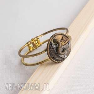 Bransoletka steampunkowa Mademoiselle Augusta, bransoletka, steampunkowa, malowana