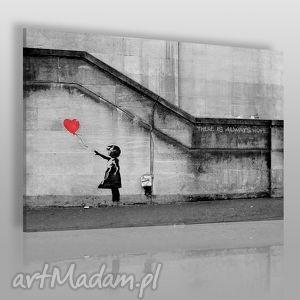 vaku dsgn obraz na płótnie - banksy dziewczynka 120x80 cm 20001