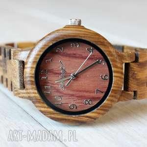 zegarki damski drewniany zegarek seria full wood, drewniany, damski, elegancki, lekki