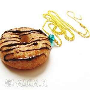 święta prezent, naszyjnik donut, naszyjnik, modelina, fimo, masa, słodkości