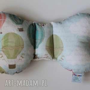 pokoik dziecka poduszka podróżna balony / ecru, poduszka, motylek, wózek, spacer