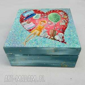 szkatułka teraz już jestem w twoim sercu na zawsze, szkatułka, serce, kobieta