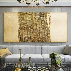 goldenfall-wielkoformatowy obraz na płótnie abstrakcyjny art&texture™