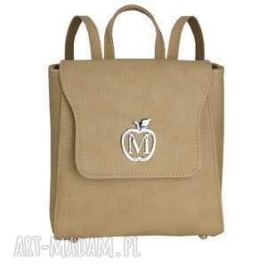 MANZANA klasyczny plecak VINTAGE ekoskóra- beżowy, plecak, vintage,