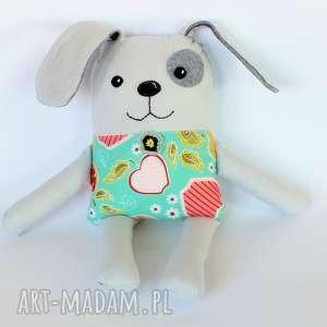 maskotki piesek łatek - eliza 39 cm, piesek, pies, łatek, dziewczynka, jabłko