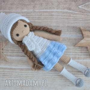 Prezent Lala Melisa - Biało- Błękitna , lala, maskotka, zabawki, prezent, chrzest