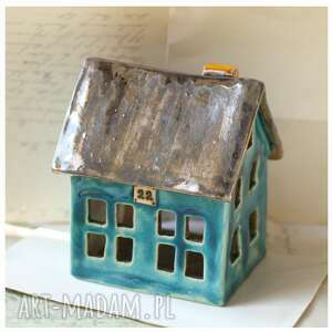 ceramika domek franza kafki, ceramika, domek, lampion, świeczka, oryginalny