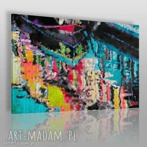 obraz na płótnie - abstrakcja kolory 120x80 cm 28401, abstrakcja, kolory, kolorowy