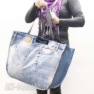 na ramię duża torba upcykling jeans 27 s oliver, upcykling