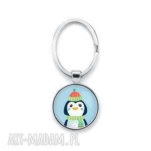 brelok do kluczy świąteczny pingwinek prezent pod choinkę na mikołaja, święta