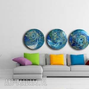 Tryptyk geograficzny 19, kosmos, planeta, księżyc
