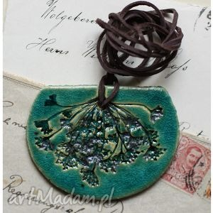 wisior turkusowy koper, wisior, ceramika, koper wisiorki