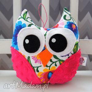 handmade świąteczne prezenty mini sowa - maskotka przytulanka