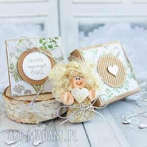 aniołek magicznych chwil personalizowana kartka pudełeczko, dla niej