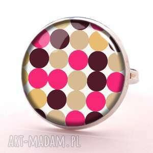 handmade pierścionki groszki lata 60-e - pierścionek regulowany