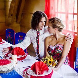 koszula ślubna inspirowana góralszczyzna Folk Design Aneta Larysa Knap,