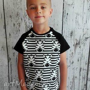 handmade zabawki bluzka, t-shirt w zebry (98 -140)