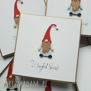 scrapbooking kartki kartka świąteczna - stylowa i wyjątkowa pan krasnal