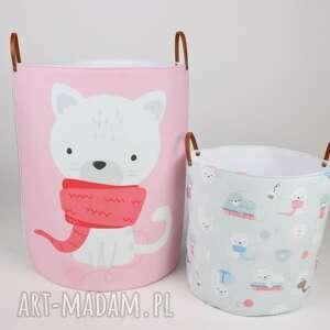 komplet dwóch pojemników w kotki, dziecko, pojemnik, prezent