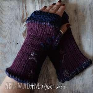 rękawiczki mitenki - rękawiczki, mitenki, naręce, naprezent, wełniane