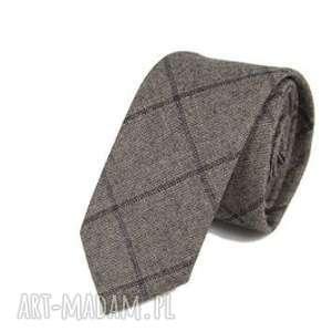 krawat slim #117, krawat, bawełna, dodatki, męski