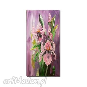 wyjątkowe prezenty, obrazy irysy, obraz akrylowy, obraz, obrazy, kwiaty