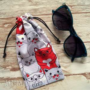 Prezent Etui / bawełniany woreczek na okulary, słoneczne, kot, prezent