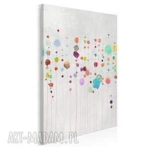vaku dsgn obraz na płótnie - kolorowy kropki abstrakcja w pionie 50x70 cm