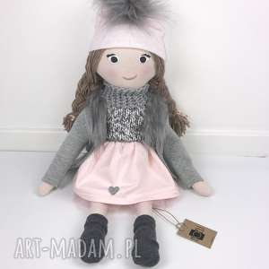 lalki winter doll duża lalka, duza, uszyta