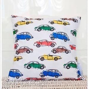 pokoik dziecka poszewka na poduszkę dziecięca kolorowe auta, pościel