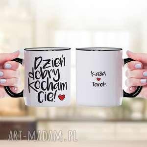 kubki dzień dobry, kocham cię - personalizowany ceramiczny kubek z nadrukiem