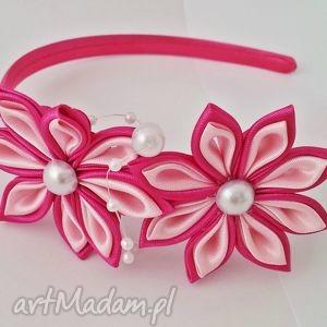 autorskie opaski różowa opaska dla dziewczynki