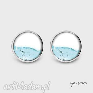 Kolczyki - woda sztyfty, grafika yenoo kolczyki, wodne, wkrętki
