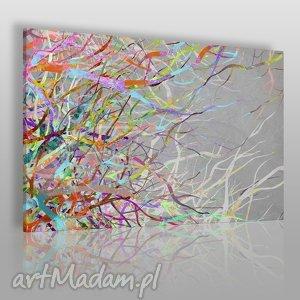 obrazy obraz na płótnie - abstrakcja gałęzie kolory 120x80 cm 52701, płomienie