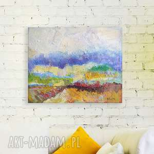 nowoczesny obraz,pejzaż obraz olejny,obraz ręcznie malowany,olejny na