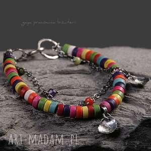 gaya pracownia kolorki, kolorowa, srebro, oksydowane, zawieszki, kamienie, prezent