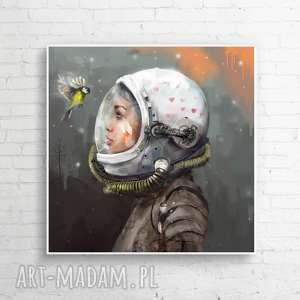 dekoracje obra zna płótnie universum 60x60 cm, obraz, obrazy, kosmos