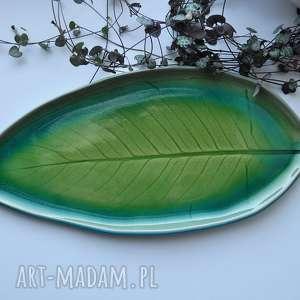 Patera talerz ceramiczny liść ceramika tyka ceramika, patera