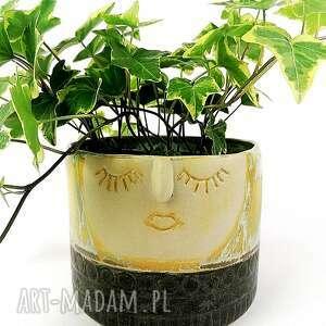 osłonka ceramiczna z serii rodzina - zofia, doniczka, osłonka, wazon, donica