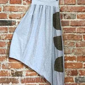 spódnico-spodnie, plażowe spodnie, boho etno lużne spodnie