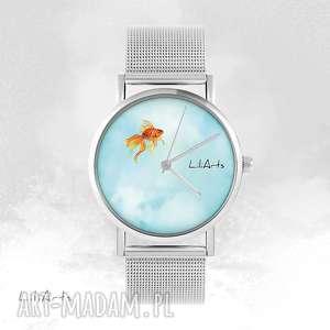 Prezent Zegarek, bransoletka - Złota rybka metalowy, zegarek, bransoletka, metalowa