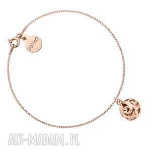 bransoletka z kulą różowego złota, łańcuszek, rosegold, kulka, kuleczka