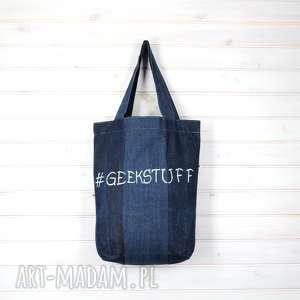 torba do szkoły na uczelnię geekstuff, torebka, pojemna, geek, uczelnia