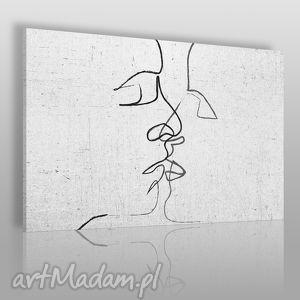 Obraz na płótnie - ABSTRAKCJA POCAŁUNEK 120x80 cm (31601), pocałunek, nowoczesny