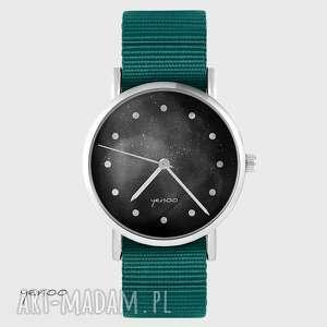 zegarek yenoo - czarny morski, nato, zegarek, pasek, kosmos, unisex