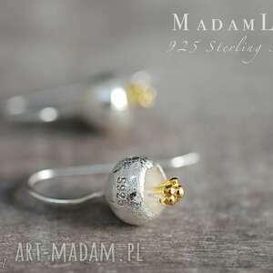 ręcznie wykonane kolczyki 925 srebrne dzwoneczki kolczyki