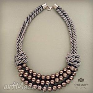 unikalne prezenty, tatiana, korale, perły, szkło, sznur, metal