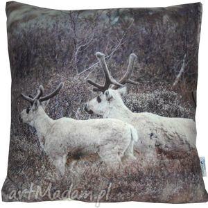ręcznie zrobione prezenty na święta poduszka dekoracyjna reindeer